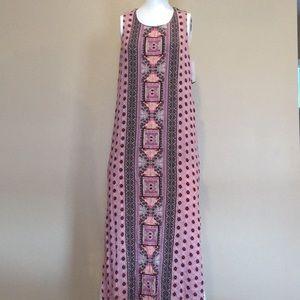 Pink Patterned Maxi Dress